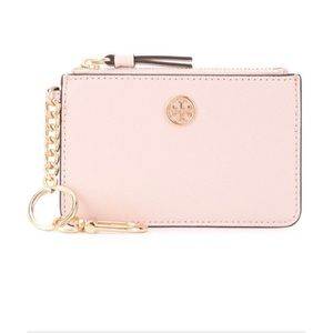 EUC PALE PINK TORY BURCH CARD WALLET